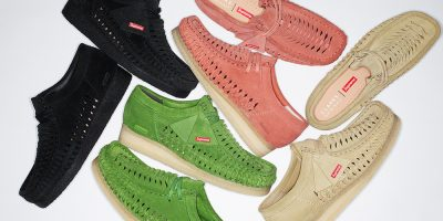 Supreme & Clarks to Release Woven Wallabee